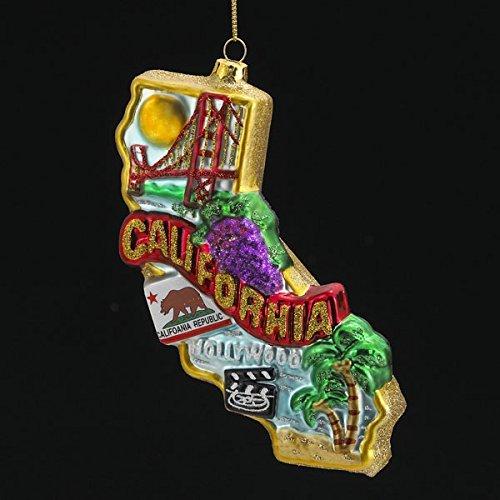 Kurt Adler 6,5Glas California Weihnachten Ornament