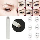 Bluelover 50Pcs U-Form 18 Nadeln Stifte Manuelle Permanent Augenbraue Microblading Tattoo Blades Augen Make-Up