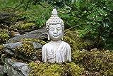 Busto de Buda Estatua de piedra Drift Madera interiores y exteriores de jardín de efecto adorno