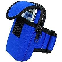 La & Esto brazalete deportivo de neopreno/unidad funda unidad/Cinturón Para Su Teléfono Móvil & Smartphones De Los Viajes, fitness, Correr, Correr, Ciclismo, Racing, spazierung & # xff08; adecuado para Apple iPhone 4, 4S, 5, 5S, 5C, 6, Samsung Galaxy Note 2, 3, Samsung Galaxy S5, S5Mini, S4, S4Mini, S3Mini & # xff09;, azul