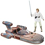 Star Wars The Black Series Luke Skywalker Landspeeder & Action Figur