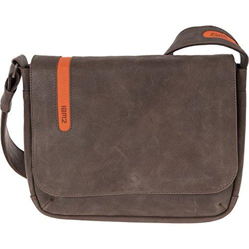 Laptoptasche TORO T13 für 13-Zoll Laptops aus vegetabil gegerbtem Leder Brown / Orange (Braun / Orange)