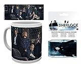 Set: Sherlock, Cast Foto-Tasse Kaffeetasse (9x8 cm) Inklusive 1 Sherlock EC-Kartenhülle Kartenetui Für Fans Und Sammler (10x7 cm)