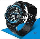 QBD Uhr Analog-Digital mit Plastik Armband QBD G Style blue Test