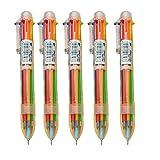 weimay Stylo bille Multicolore Transparent Multi Fonction Presse couleur Stylet 6Stylet (5pièces)