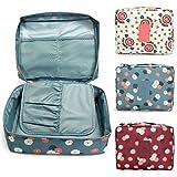 #1: Inovera Nylon Mesh Pocket Makeup Organizer Cosmetic Travel Pouch, Multi