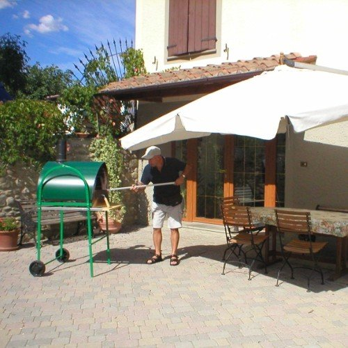 wood fired pizza oven pizza party 70 x 70 green color