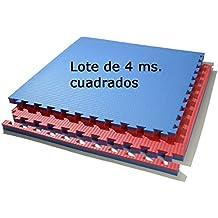 Lote 4 mts. suelo tatami (rojo/azul) de 2 cmts.