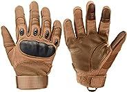 Xnuoyo Gomma dura Nocca Full Finger e Mezza Finger Gloves Guanti di protezione Touch Screen Guanti per Moto Ci