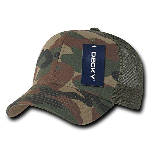 Trucker Olive (Decky Trucker Baseball-Cap Baumwolle gebogener Schirm, Herren, Cotton Curve Bill Trucker, Woodland/Woodland/Olive, Nicht zutreffend)