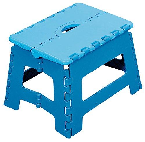 Kesper 70528 Klapptritt aus Kunststoff, 35 x 27 x 22 cm, blau
