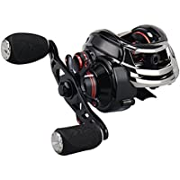 KastKing Royale Legend/Whitemax Low Profile baitcasting Fishing Reel - 11 +1 rodamientos Blindados, 17.5 LB de Fibra de Carbono (Right-Handed(Black))