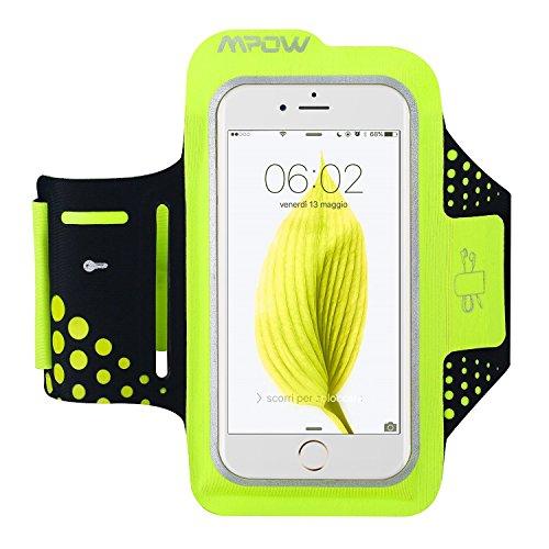 Mpow Fascia Sportiva da Braccio Sweatproof Bracciale per Corsa & Esercizi con Supporto Chiave e Riflettente Armband per iPhone 6, 6S, Samsung