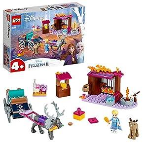 LEGO DisneyFrozenII L'AvventurasulCarrodiElsa con Mini-doll della Principessa Elsa e 2 Figure di Renne, Facile da Costruire con Piattaforma di Base, Bambini in Età Prescolare 4-7 Anni, 41166 5702016368635 LEGO