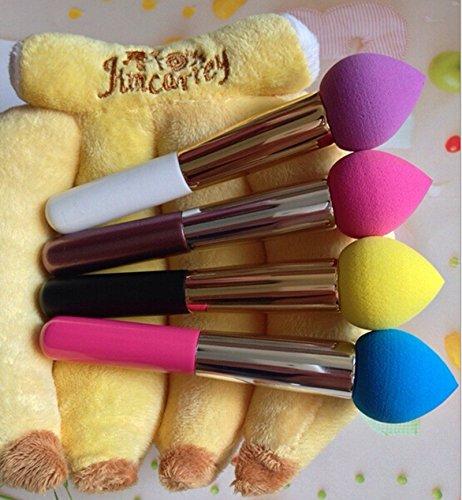 4pcs Pro Beauté maquillage impeccable Blender éponge Brosse - meilleur look Airbrushed Pro Avec vitamine E