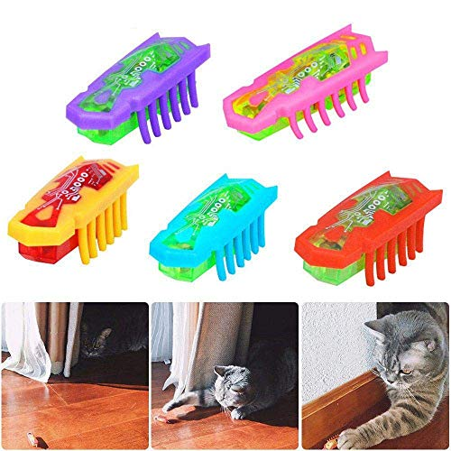 LILITRADE Elektrische Bug Katzenspielzeug Sich schnell bewegende Katze Hund automatische Chaser Spielzeug interaktive Katze Teaser Spielzeug für Haustiere Scratching Spielen -