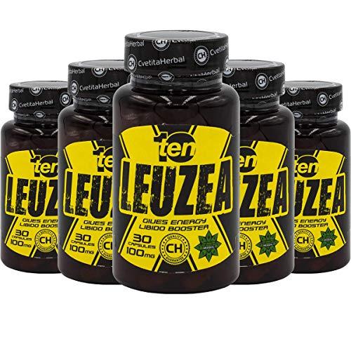Leuzea carthamoides Max 5 x 30 kapseln Natürlicher Kräuterextrakt Ecdysterone, Stärke, Ausdauer, Muscle Fuel Anabole Magermasse & Masse & Kraftgewinn, Muskelwachstumsaktivator -