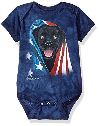 The Mountain Babystrampler Patriotic Black Lab 6-12 Monate