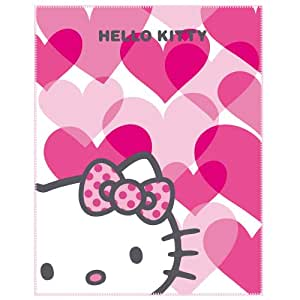 CTI 041418 Plaid Polaire Hello Kitty Mimi Love Pink 110 x 140 cm