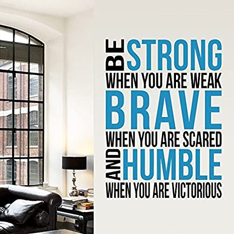 Missofsweet Strong Brave Humble Living Room Decoration Mural by Missofsweet