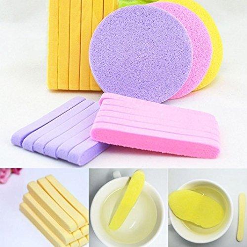 12 esponjas de compresión para limpieza facial