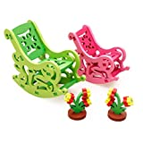 Imported 3D DIY Dolls House Assembly Furniture Toys-Rocking Chairs