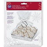 Wilton Snowflake Cookie Tablett-Set, Mehrfarbig, 16x 23,5x 0,41cm