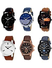 SkyLona Combo Of 6 New Stylish & Attractive Analog Watch For Men & Boys