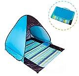 Pop Up baldacchino tenda da spiaggia con tappetino per campeggio,