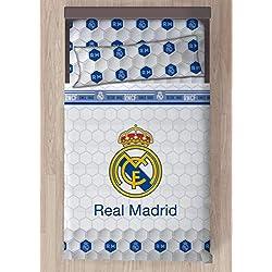 Carbotex Juego DE SÁBANAS Real Madrid Escudo CENTRADO (105)