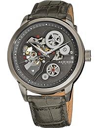 Akribos XXIV AK538GY - Reloj para hombres, correa de cuero color gris