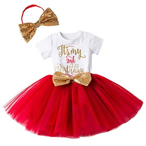 Baby Mädchen Ist es Mein 1. / 2. Geburtstags Kleid Sequin Tütü Prinzessin Glitzernde Bowknot Partykleid Neugeborene Säuglings Kleinkind 1.Weihnachten Fotoshooting Outfits Kostüm Rot