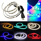 SZMINILED 60Leds/M USB LED Strip Lights RGB 3528 Led flexible Strips Waterproof With Usb Cable Dc5V Pack Of 1M