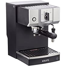 Krups Steam & Pump Máquina De Espresso, 1400 W, Acero Inoxidable, Negro/