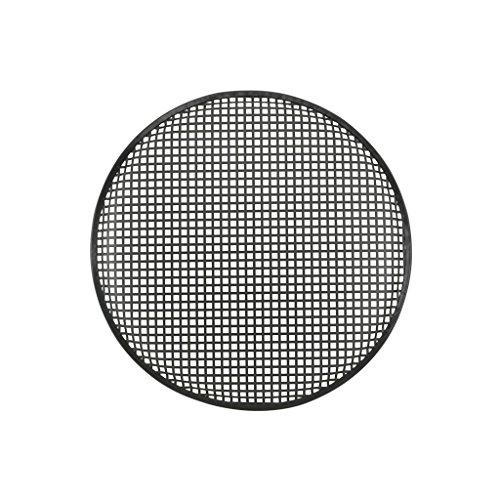 Qtx 18 cm-Griglia in metallo con verniciatura a polvere resistente, colore: nero