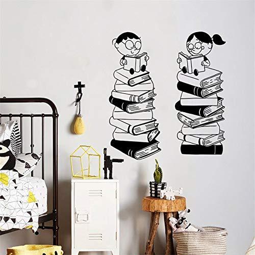 xingbuxin Kinderbuch Wandtattoo Schule Klassenzimmer Kunst Wohnzimmer Schlafzimmer Wandbild Dekoration Kindergarten Kinderzimmer Wandaufkleber rosa 58 X 64 cm -