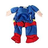 DIGIFLEX Haustier Superman Kostüm, Superhelden – Fasching/Fastnacht, Halloween – Outfit für kleine Hunde oder Katzen bis 25cm Hals - 5