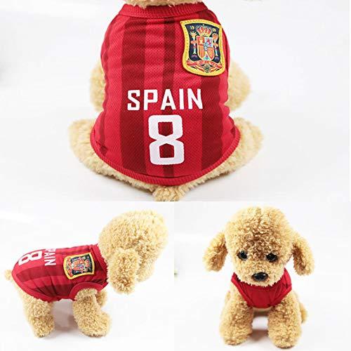 Frühling Und Sommer Hundefleitwäsche Fußball-Basketball-Anzug Hauskleidung Weste Team Ballanzug 6XL Spanien