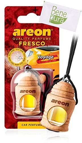 AREON auto deodorante profumo fresco 4ml-Voyage-appeso bottiglia diffusore con copertura in legno naturale, a lunga durat