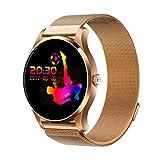 JiaMeng Smartwatches - Orologio da cardiofrequenzimetro Android IOS Android K88H Orologio da polso rotondo IPS da 1,22 pollici Cinturino da polso magnetico magnifico oro