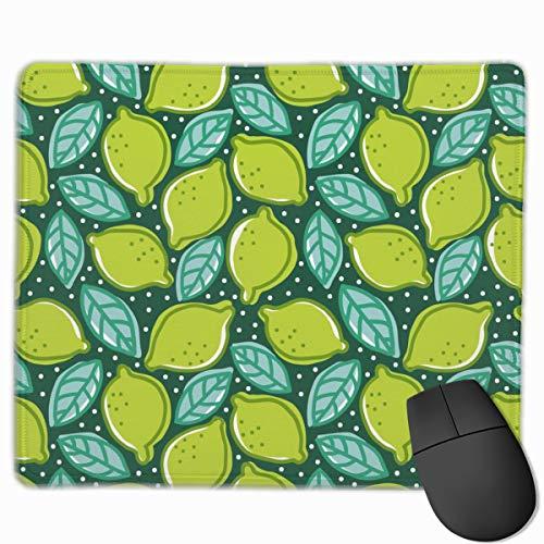 Limette Pfeffer Minze Essen Und Trinken Zitrone Mousepad Rutschfeste Gummi Gaming Mouse Pad Rechteck Mauspads Für Computer Laptop (11,8X9,8 Zoll)