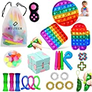 Weltech 26 Pack Sensory Fidget Toys Set, POP IT PUSH POP UP, Autistic ADHD Toys, Stress Relief, Anxiety Relief