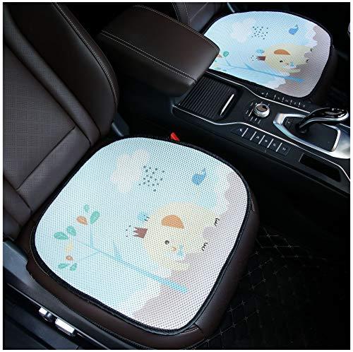 Cojín Para Asiento de Automóvil - Summer Cool Pad Ice Silk Respirable 3D Cartoon Elefante Cojín Para Asiento Four Seasons Universal (Paquete De 2)