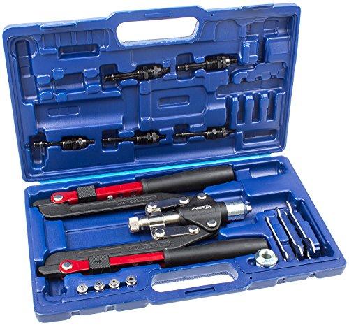 Nietzange + Nietmutternzange im Set für Nieten bis 6,4mm und Nietmuttern von M4-M10