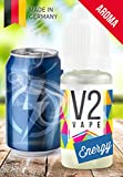 V2 Vape Energy AROMA/KONZENTRAT hochdosiertes Premium Lebensmittel-Aroma zum selber mischen von E-Liquid/Liquid-Base für E-Zigarette und E-Shisha 10ml 0mg nikotinfrei
