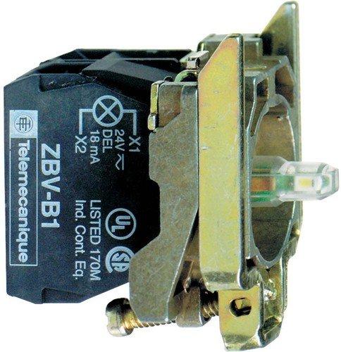 Schneider ZB4BW0B15 Hilfsschalterblock, Integral LED 1S+1Ö, Weiß, durchmesser 22 cm Current Sensing Switch