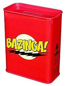 The Big Bang Theory Bazinga–The Big Bang Theory–Warner Bros. 6821030000pièce tirelire banque en métal rouge 9x 4,5x 11,5cm
