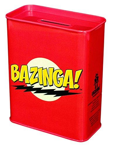 Warner Bros. The Big Bang Theory Bazinga - The Big Bang Theory 6821030000 pièce Tirelire Banque en métal Rouge 9 x 4,5 x 11,5 cm