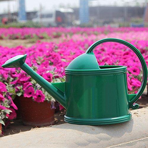 Wddwarmhome Arrosage Bouilloire Résine Arrosoir Pot Enfant Arrosage Outils de jardinage ( Couleur : Vert foncé , taille : 2.2L )