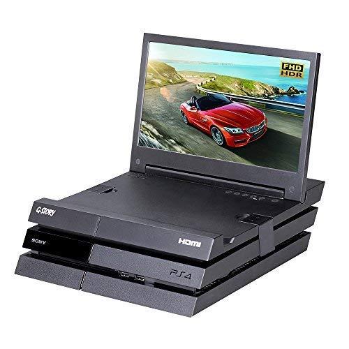 MonitMonitor de juegos G-STORY de 11,6 pulgadas, HDR FHD 1080P, portátil con la tecnología Eye-Care (protección para los ojos) para Original PS4 (no se incluye), con FreeSync, cable HDMI